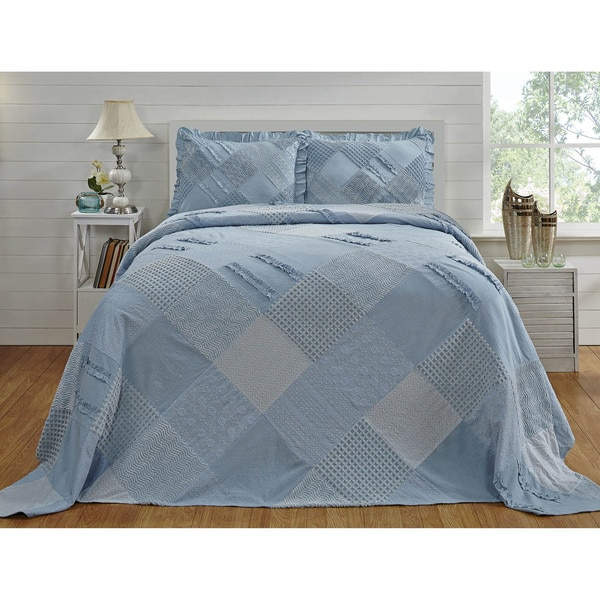 Chenille Ruffled Bedspread by Better Trends