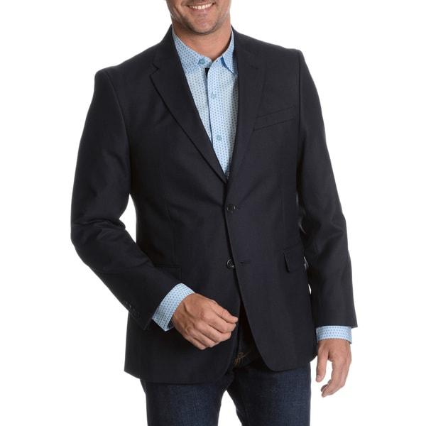 Tommy Hilfiger Men's Blue Trim Fit Suit Separate Two Button Blazer