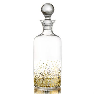 Fitz and Floyd Gold Luster Whiskey Decanter