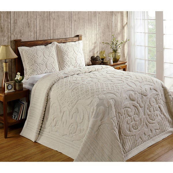 Ashton 100-percent Cotton Chenille Super Soft and Plush Bedspread