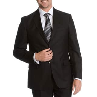 Tommy Hilfiger Men's Black Trim Fit Suit Separate Two Button Blazer|https://ak1.ostkcdn.com/images/products/10247180/P17365996.jpg?impolicy=medium