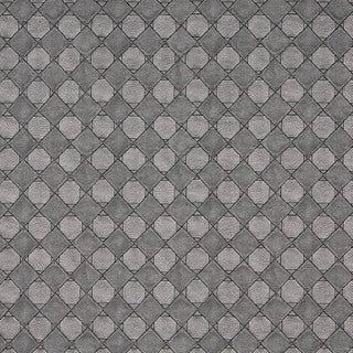 G793 Silver Metallic Diamonds and Squares Upholstery Faux Leather