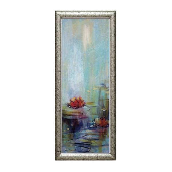 Lorena Karen Parker 'Aqua Lotus l' 16 x 40 Framed Art Print