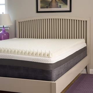 Slumber Perfect Highloft Supreme 4-inch Convoluted Memory Foam Topper