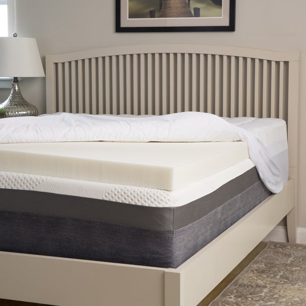 Slumber Perfect 3-inch Memory Foam Topper with 1.5-inch Fiber Cover