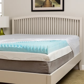 Slumber Perfect Comfort Loft 4-inch Gel Memory Foam Topper with Polysilk Cover