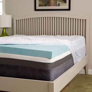 Slumber Perfect 4-inch Gel Memory Foam and 1.5-inch Fiber Mattress Topper (5 options available)