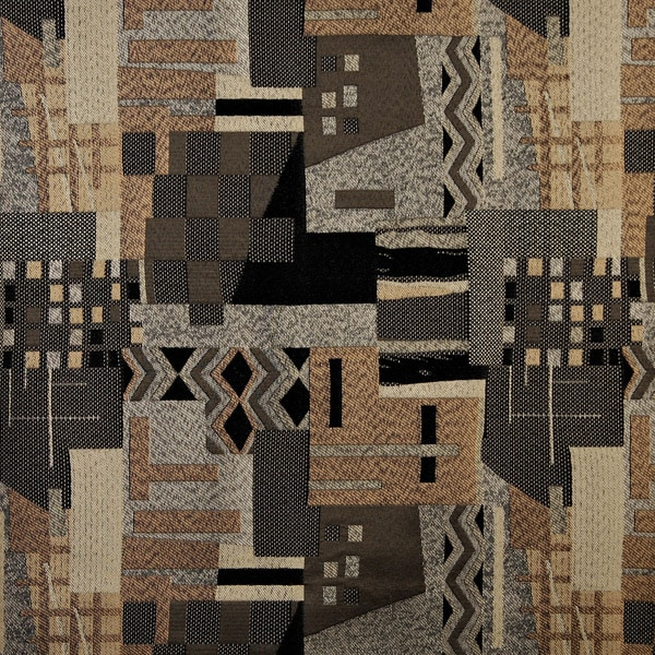 Shop C680 Brown Black Grey Gold Large Scale Southwest Upholstery