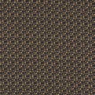 C752 Black Gold Grey Geometric Rectangles Durable Upholstery Fabric