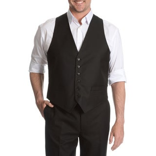 Tommy Hilfiger Men's Black Trim Fit Suit Separate Vest