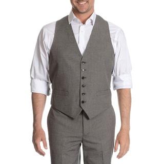 Tommy Hilfiger Men's Black/ White Trim Fit Suit Separate Vest