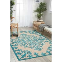 Nourison Aloha Indoor/ Outdoor Area Rug (7'10 x 10'6) - 7'10 x 10'6