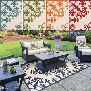 Nourison Aloha Indoor/ Outdoor Area Rug (5'3 x 7'5)