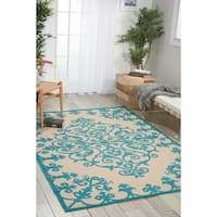 Nourison Aloha Indoor/Outdoor Vine Pattern Area Rug (5'3 x 7'5)