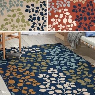 Nourison Caribbean Indoor/Outdoor Floral Rug (5'3 x 7'5)