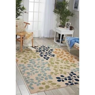 Nourison Caribbean Indoor/Outdoor Floral Rug (9'3 x 12'9)
