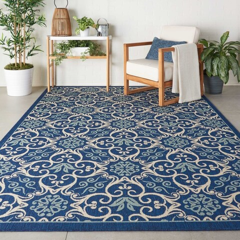 Nourison Caribbean Indoor/ Outdoor Area Rug - 7'10 x 10'6