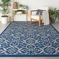 Nourison Caribbean Indoor/ Outdoor Graphic Area Rug (7'10 x 10'6) - 7'10 x 10'6