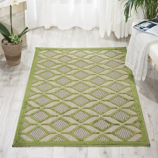 Nourison Aloha Indoor/Outdoor Geometric Rug (3'6 x 5'6)