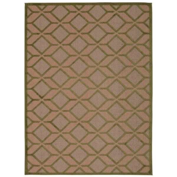 Nourison Aloha Indoor/Outdoor Geometric Rug - 7'10 x 10'6