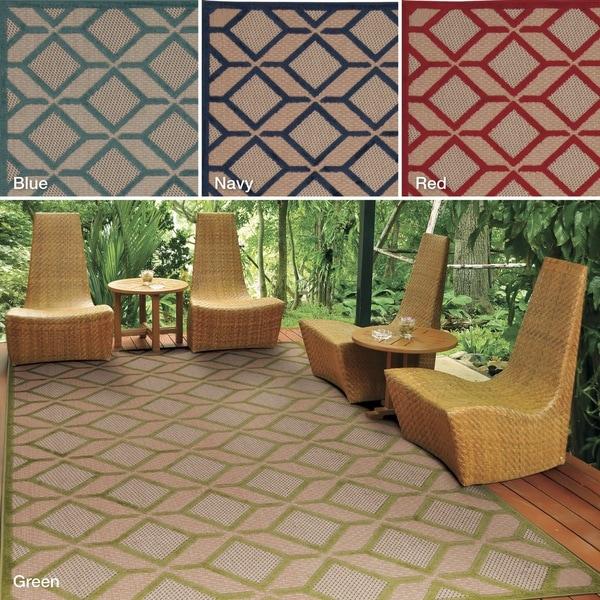 Nourison Aloha Indoor/Outdoor Geometric Rug (9'6 x 13') - 9'6 x 13'