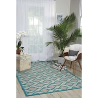 Nourison Aloha Indoor/Outdoor Geometric Rug (9'6 x 13') - 9'6 x 13'