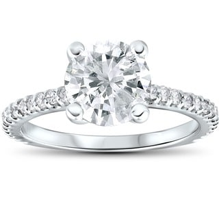 14k White Gold 2.3 ct TDW Clarity Enhanced Diamond Engagement Wedding Ring (I-J, I2-I3)