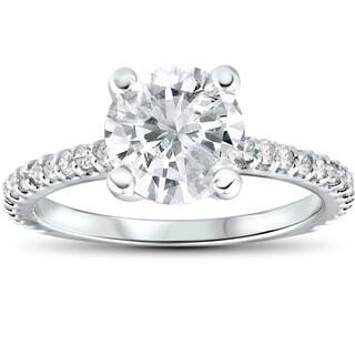14k White Gold 2.3ct TDW Clarity Enhanced Diamond Engagement Ring