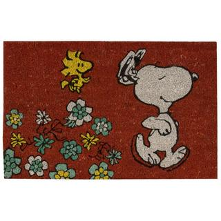 Peanuts by Nourison Welcome Red Door Mat (1'6 x 2'4)