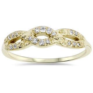 10k Yellow Gold 1/ 5ct TDW Diamond Infinity Ring (I-J, I2-I3)
