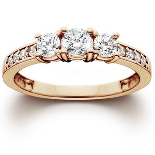 14k Rose Gold 1.00 ct TDW Diamond Engagement Wedding Ring (I-J, I2-I3)