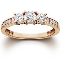 14k Rose Gold 1.00 ct TDW Diamond Engagement Wedding Ring