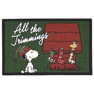 Peanuts by Nourison Holidays Green Accent Rug (1'8 x 2'8)