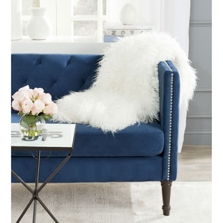 Safavieh Cuddle Faux Fur Snow White Throw (4' 2 x 5')