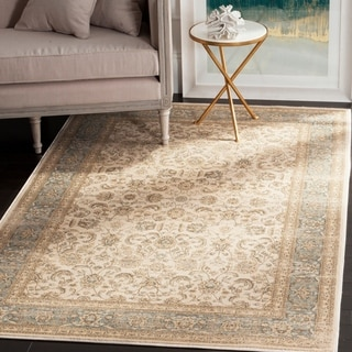 Safavieh Vintage Oriental Ivory/ Light Blue Distressed Rug (9' x 12')