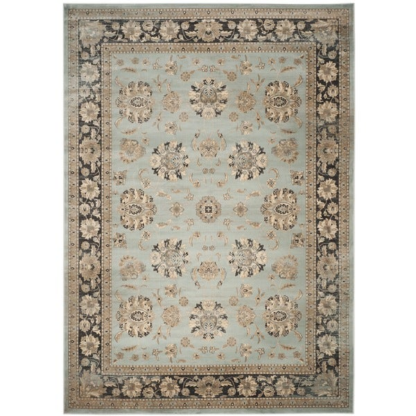 Safavieh Vintage Oriental Light Blue/ Black Distressed Rug - 8' x 11'