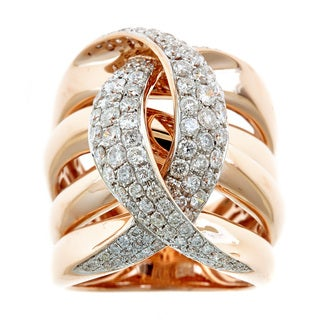 14k Rose Gold 2 1/2ct TDW Diamond Infinity Ring (H-I, SI1-SI2)