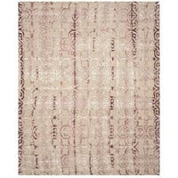 Safavieh Handmade Dip Dye Watercolor Vintage Beige/ Maroon Wool Rug - 8' x 10'