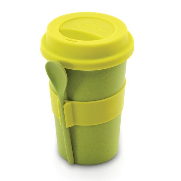 CooknCo Coffee Mug w/ Spoon (Green)