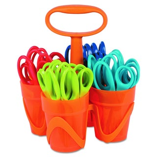 Fiskars Assorted Scissors (Pack of 24 Scissors and 1 Caddy)