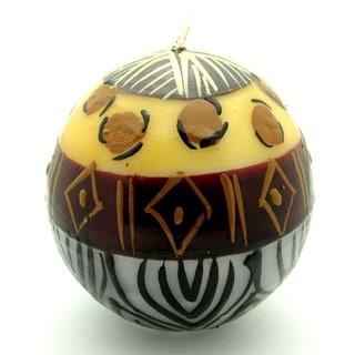 Hand-Painted Ball Candle - Uzima Design - Nobunto Candles (South Africa)