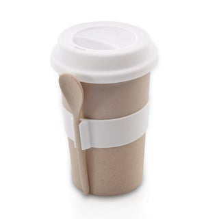 CooknCo Coffee Mug w/ Spoon (Cream)