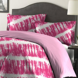 Amrapur Overseas Tie-Dye Printed Reversible 3-piece Comforter Set