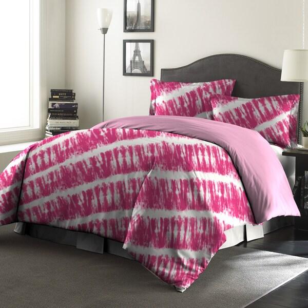 Amraupur Overseas Tie-Dye Printed Reversible 3-piece Comforter Set