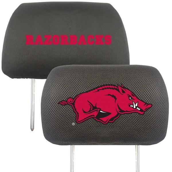Fanmats Arkansas Razorbacks Collegiate Charcoal Head Rest Covers Set of 2