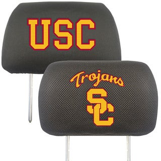 Fanmats USC Trojans Collegiate Charcoal Head Rest Covers Set of 2