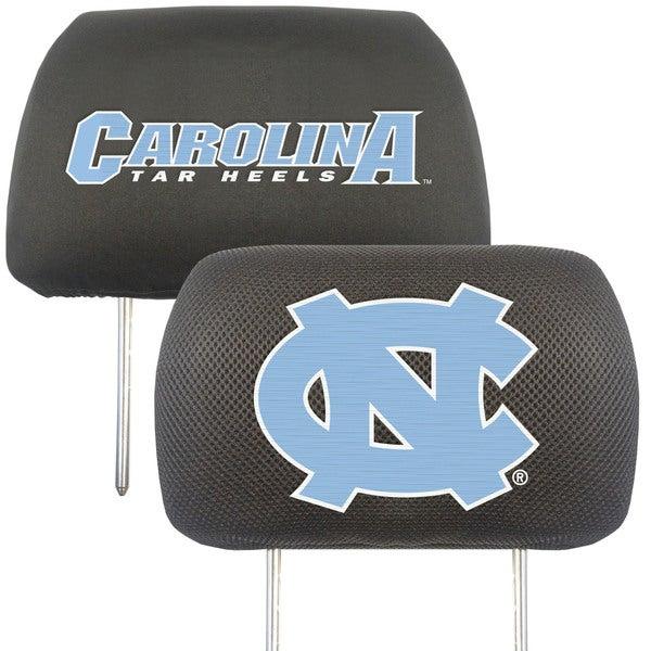 Fanmats North Carolina Tar Heels Collegiate Charcoal Head Rest Covers Set of 2