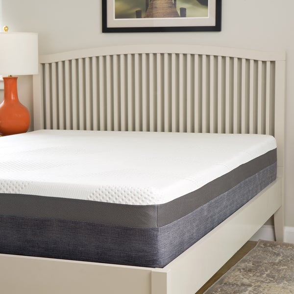 shop slumber perfect 12 inches queen size gel memory foam mattress on sale free shipping. Black Bedroom Furniture Sets. Home Design Ideas