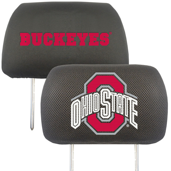 Fanmats Ohio State Buckeyes Collegiate Charcoal Head Rest Covers Set of 2