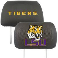 Fanmats LSU Tigers Collegiate Charcoal Head Rest Covers Set of 2